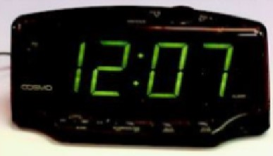 Large Green Digital Alarm Clock