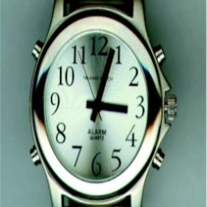 Men's Silver Talking Watch