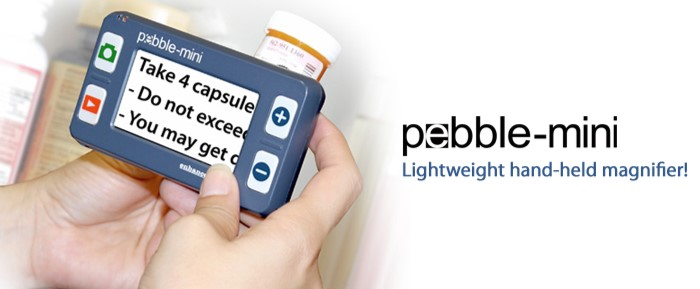 Pebble Mini Electronic Magnifier