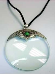 4X Pendant Magnifier with Turquoise